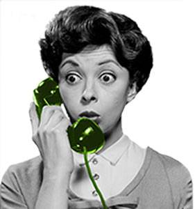 women-green-phone