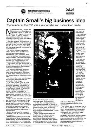 Norman Small FSB Face for Business