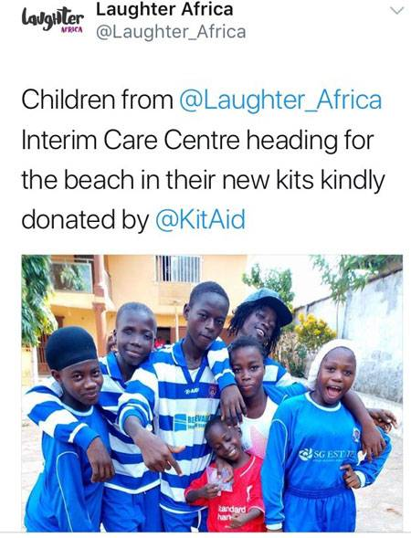 Laughter Africa Kit Aid Donations