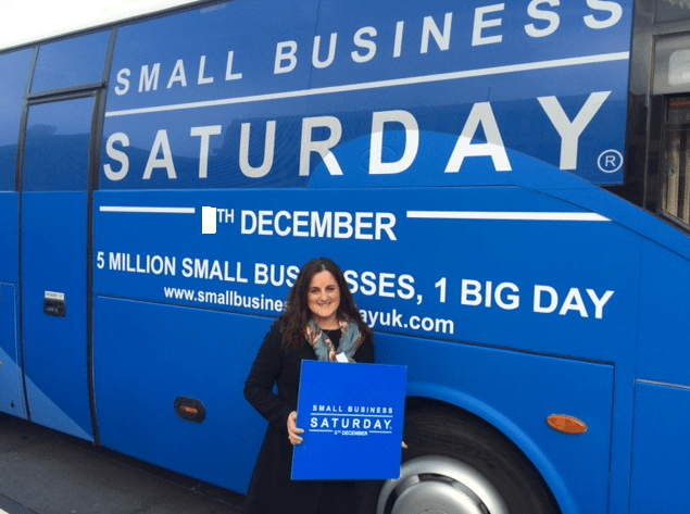 Sara Parker West Lancashire Champion for Small Business Saturday uk